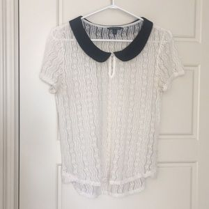Collared Lace Shirt | AE